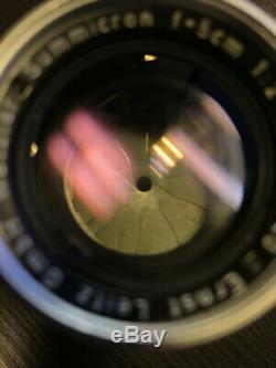 Leica Ernst Leitz GmbH Wetzlar Summicron 5cm f/2 50mm f2 Lens, M Mount Ridged