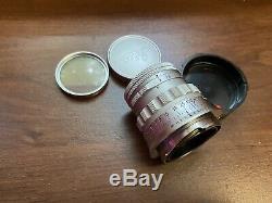 Leica Ernst Leitz Wetzlar Summicron 5cm 50mm 12 Rigid M Mount Prime Lens EXC+++