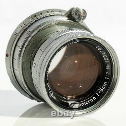 Leica Ernst Leitz Wetzlar Summicron f=5cm 12 Collapsible Lens 1954 M mount