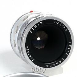 ^ Leica Leitz Elmar 65mm 3.5 M Mount Lens with OTZFO GC