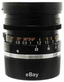 Leica Leitz Elmarit 28mm F2.8 Canada Lens. Hood For Leica M Mount