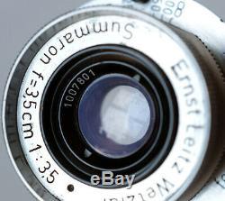 Leica Leitz Summaron 35mm f/3.5 Chrome Soonc L39 LTM Leica Thread Mount 1952 EX