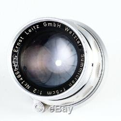 Leica Leitz Summicron 50mm f2 Rigid M Mount Lens (Read See Examples)