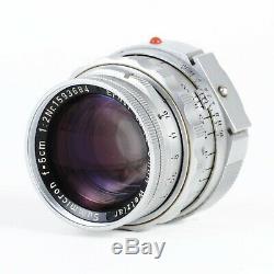 Leica Leitz Summicron 5cm 50mm f2 Dual Range DR M Mount Lens EX+++