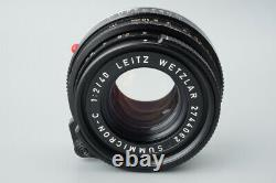 Leica Leitz Summicron C 40mm f/2 F2 Lens, For CL CLE, Leica M Mount Rangefinder
