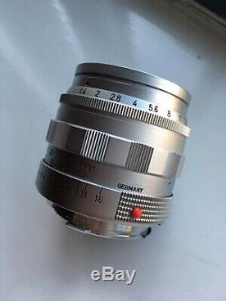 Leica Leitz Summilux 50mm F/1.4 M Mount Silver Chrome V1 E43 Rare