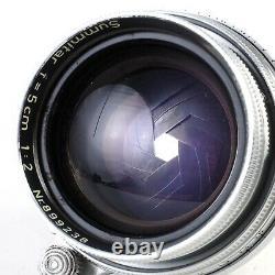 Leica Leitz Summitar 50mm f2 Collapsible L39 LTM Screw Mount Lens #9238 EX++