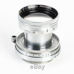Leica Leitz Summitar 50mm f2 Collapsible L39 LTM Screw Mount Lens EX++