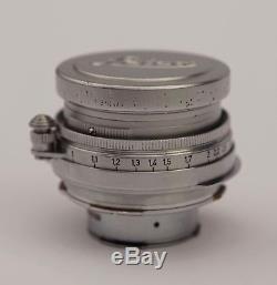Leica Leitz Summitar Lens 5cm 50mm f/2 12 with M Mount Adaptor