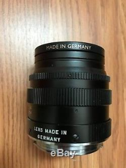 Leica Leitz Wetzlar SUMMILUX-M 50mm f/1.4 M-Mount Lens (Box, Case & Certificate)