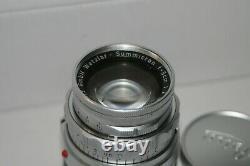 Leica Leitz Wetzlar Summicron-M 50mm F/2 Lens (leica M mount)