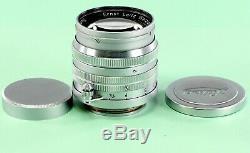 Leica Lens Summarit 1.5/5 cm, #999407, Screw Mount, Both Lens Covers