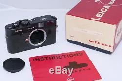 Leica M4-2 black chrome camera. CLA'd. Leica M-mount lenses. Boxed