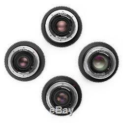 Leica R Duclos 4-Lens CineSet 24/35/60/90 F2.8 Elmarit Mid-80s in EOS/EF Mount