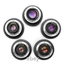 Leica R Duclos SUMMICRON+ 5-Lens 1990s CineSet 19/24/35/50/90 Canon EOS/EF mount
