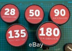 Leica R Lens Set 28 50 90 135 180 cine conversion Leitax EF Canon Mount