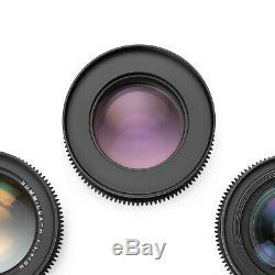 Leica R SUMMILUX 5-Lens Duclos CineSet 19/35/50/80/135 Late Lenses EOS/EF Mount