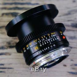 Leica SUMMICRON-R 35mm f/2 MF Lens CANON EF MOUNT Cine-Mod Conversion