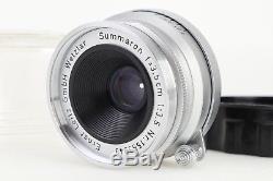 Leica Summaron 3.5cm 35mm F3.5 E39 Screw Mount LTM L39 Lens w Case Ft Scale