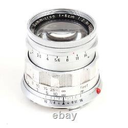 Leica Summicron 5cm 50mm f2 Rigid M Mount Lens Please Read Description