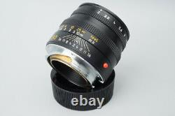 Leica Summicron-M 50mm f/2 F2 E39 Lens with E39 UVa Filter For M Mount Rangefinder
