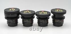 Leica Summicron-R 1977ish 19/24/28/35/50/60/90/135 8 lens Set EF mount cinevised