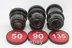 Leica Summicron-R 1977ish 24/28/35/50/90/135 6 lens Set EF mount cinevised