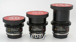 Leica Summicron-R 1980ish 19/28/35/50/90/135 6 lens Set EF mount cinevised