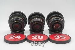 Leica Summicron-R 1980ish 24/28/35/50/90/135 6 lens Set EF mount cinevised