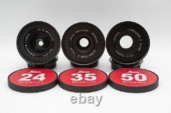 Leica Summicron-R 1980ish 24/35/50/60/90/135 6 lens Set EF mount cinevised