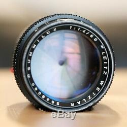 Leica Summilux 50mm f/1.4 M-mount rangefinder lens Summilux II V2 E43