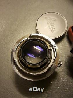 Leica summicron 50mm f2 The Best. M mount with Soofm Hood. Absolutely Stunning