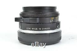 Leitz Canada SUMMICRON 35mm f/2 (11 309) with Hood, Caps for Leica M Mount #P8624