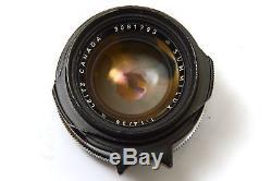 Leitz Leica Canada Summilux 11.4/35mm (35mm F1.4) M Mount