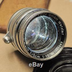 Leitz Leica Summarit 50mm f1.5 11120 Screw Mount, LTM, M39 Lens