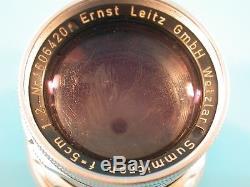 Leitz Leica Summicron 5cm 12 50mm M Mount Lens Meter Scale AS-IS for Repair