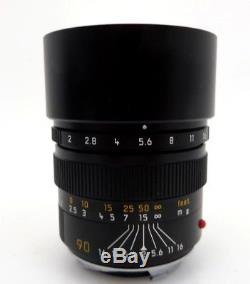 Leitz Leica Summicron M mount 3533448 90mm f2 jj022