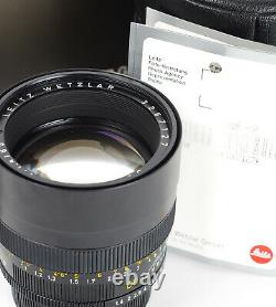 Leitz Summilux-R 1.4/80mm f/1.4 80mm mount Leica R No. 3267127 Boxed A+ 11880
