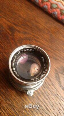 Leitz Wetzlar Leica Summicron 5cm 50mm f2 Collapsible M39 LTM Screw Mount Lens