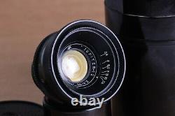 Lens JUPITER 12, 35mm f2.8, M39 mount for Leica, FED, Zorki, Sony. Black