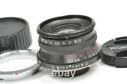 Lens Voigtlander 35mm f2.5 COLOR SKOPAR L39 + M mount adapter, Bessa & Leica