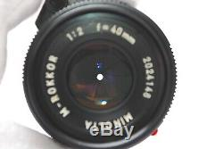 MINOLTA M ROKKOR 40mm F/2 Leica M Mount for CL CLE from Japan #R34