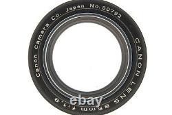 MINTCanon 85mm f/1.9 Lens Leica Screw Mount L39 LTM From JAPAN