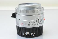 MINTLeica SUMMICRON-M 35mm F/2 ASPH E 39 Lens In Silver For Leica M Mount
