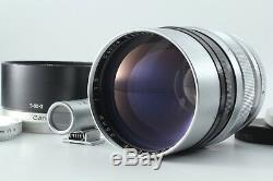 MINT Canon 85mm F/1.5 II with Finder, Hood for L LTM L39 Leica Screw Mount JAPAN
