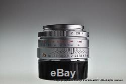 MINT LEICA SUMMICRON M 35mm f/2 ASPH. E39 Screw mount 11608 with L-M adapter