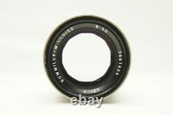MINT LEICA SUMMILUX-M 50mm F1.4 E46 Titanium MF Lens for M Mount #201119k