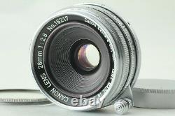 MINT Vintage Canon 28mm F/2.8 Lens L39 LTM Leica Screw Mount from JAPAN