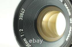 MINT withHood Canon 35mm F2 Lens L39 LTM Leica Screw Mount From Japan #935