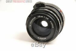 Minolta 28mm f2.8 M-Rokkor Lens. Leica M mount. Graded LN- #8266